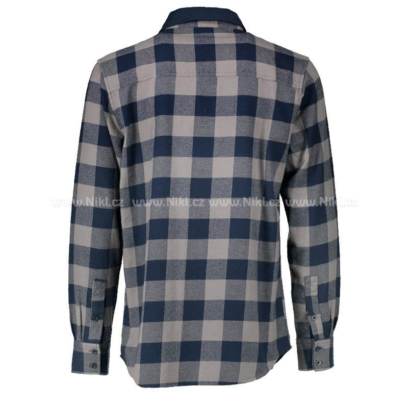 Flanelová košile AQUA - Long Sleeve Blue Check Flannel Shirt