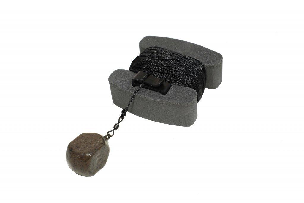 NIKL H bojka mini čierna s poistkou a šnúrou (20m)