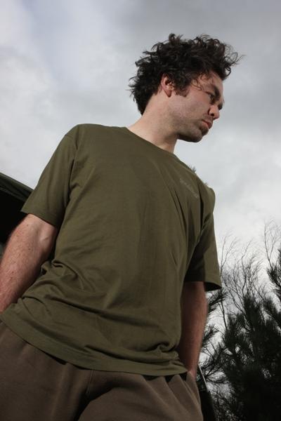 Bavlněné tričko Trakker - T-Shirt Olive