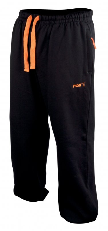 54781bf8047 Tepláky Fox - Black and Orange Lightweight Joggers - Karel Nikl