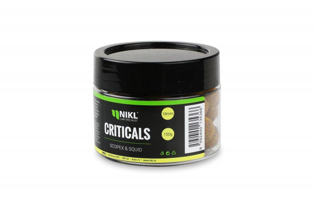 Vyvážené boilie NIKL Criticals Scopex & Squid 24 mm 150 g