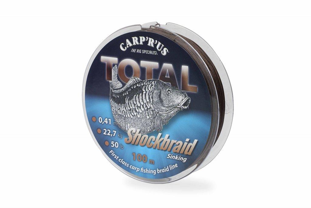 CARP'R'US Total Shock Braid - 0.41mm/100m/22.68kg/50lb