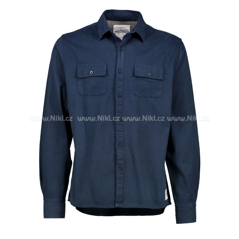 Flanelová košile Aqua - Long Sleeve Navy Twill Shirt