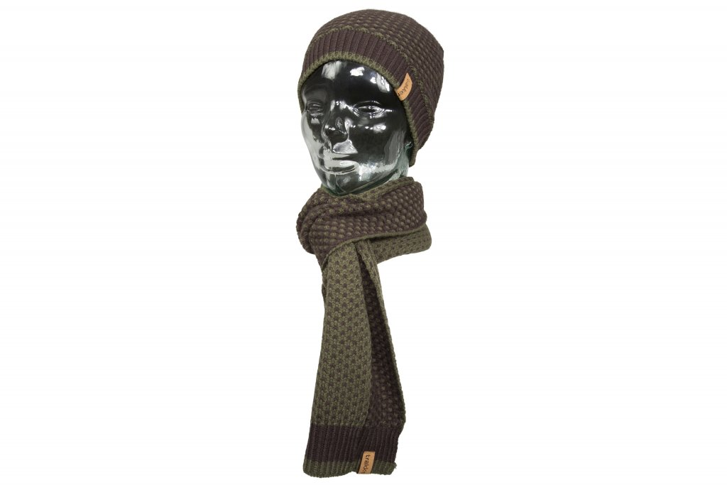 Trakker Set kulich + šála - Earth Hat and Scarf Set