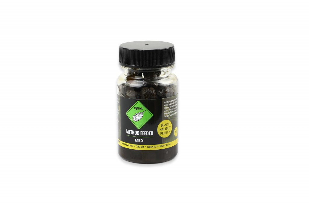 NIKL Method feeder Black Halibut pelety MED - 8mm, 50g