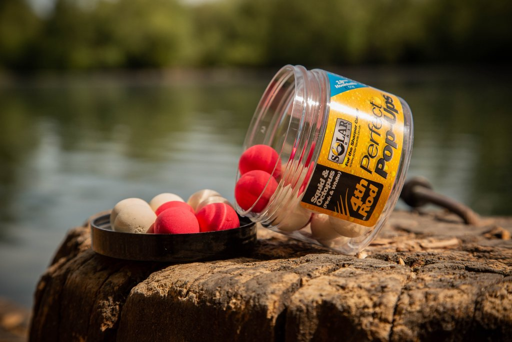 SOLAR Pink And White Squid Pop-Ups 14 mm 50 g