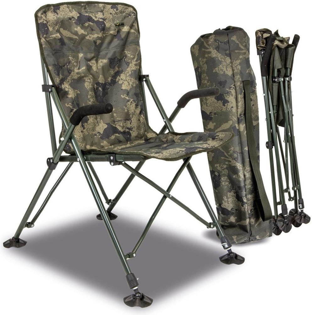 Solar - Křeslo - Undercover Camo Foldable Easy Chair - High