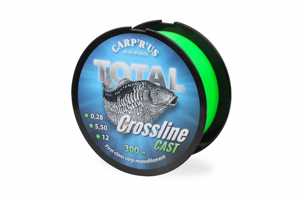 CARP'R'US Total Crossline Cast Green - 0.25mm/300m/4.5kg/10lb