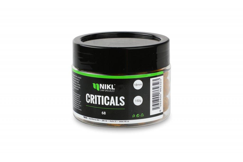 Vyvážené boilie NIKL Criticals 68 24 mm 150 g