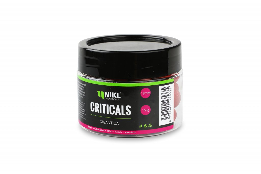Vyvážené boilie NIKL Criticals Gigantika 24 mm 150 g