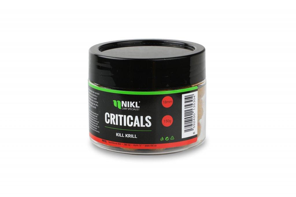 Vyvážené boilie NIKL Criticals Kill Krill 24 mm 150 g
