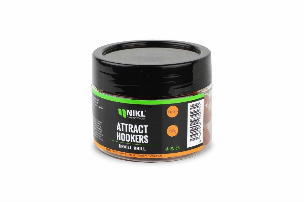 Rozpustné dumbells NIKL Attract Hookers Devill Krill 18 mm 150 g